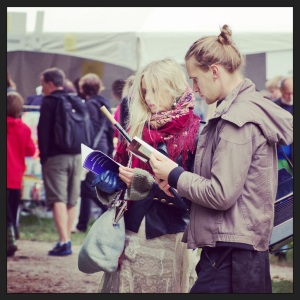 Festival visitors